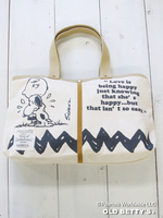 SNOOPY Canvas Tote Bag/スヌーピーキャンバストートバッグ