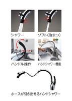 【TOTO TKN34PBTRR】台付シングルレバー混合水栓(タッチスイッチ・ハンドシャワータイプ)