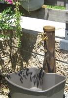 【KAKUDAI6242-900】エコ水栓柱(焼丸太)