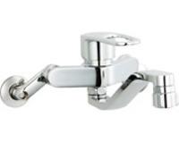 【LIXIL SF-WM433SYN】壁付シングルレバー混合水栓(シャワー付き・寒冷地用)