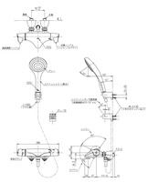 【TOTO TMNW40SC1】壁付サーモスタット混合水栓