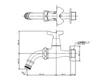 【KAKUDAI 701-332-13】ガーデン用万能ホーム水栓