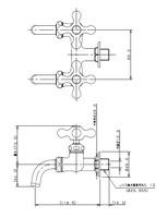 【KAKUDAI 705-004-13】双口ホーム水栓