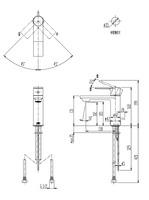 【CERA CET3500R】洗面器用湯水混合栓