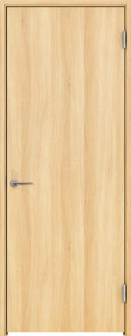 開きドア 枠外寸法、高さ2028×幅778 枠幅95 レバーハンドル付き スキスムS フラットデザイン 右吊り元 LN色 永大産業