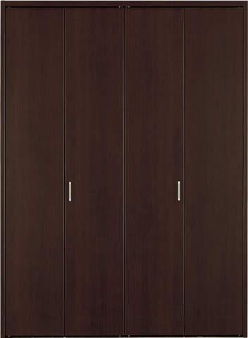 クローゼット【枠外寸法、高さ2028×幅1637】【取っ手付き】アーバンモードα 縦木目 DW色 EIDAI