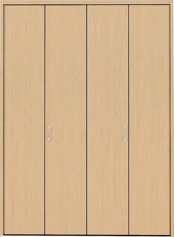 クローゼット【枠外寸法、高さ2028×幅1637】【取っ手付き】アーバンモードα 縦木目 LN色 EIDAI