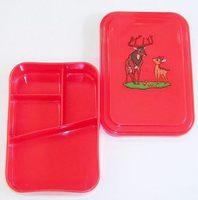レトロ柄 保育園等や学校給食の業務用弁当箱