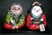 お福人形・お多福人形 商売繁盛 縁起置物 特価通販