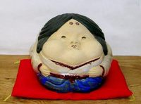 多くの福を招くお福人形 開運縁起置物 特価で通販