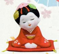 お福人形・お多福人形・舞妓さん 商売繁盛 縁起置物 特価通販