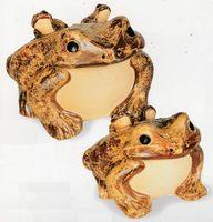 信楽焼(しがらき焼)蛙12号(子2匹)置物