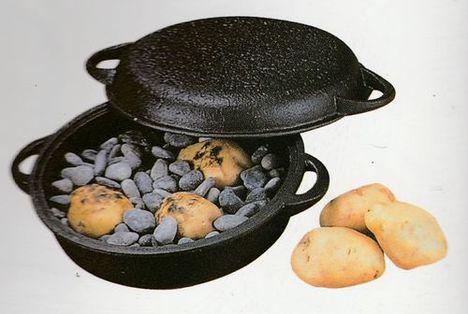 貧血予防に南部鉄器の石付き万能鍋 ダッチオーブンにも てんぷらはサクサク・石焼芋はホクホクに仕上がります。特価で通販
