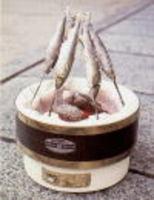 能登半島珠洲市の天然珪藻土切り出し七輪 魚の串焼き 通販