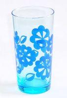 昭和レトロ ブルーガラスコップ