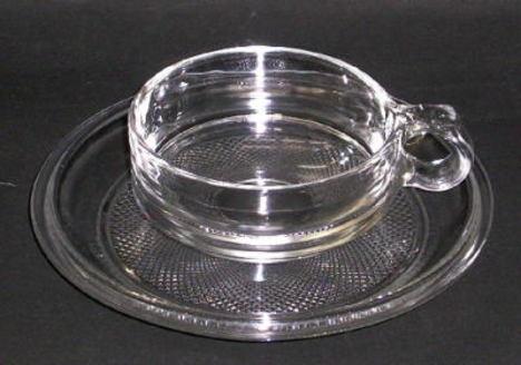 昭和レトロ ガラスカップ&ソーサー