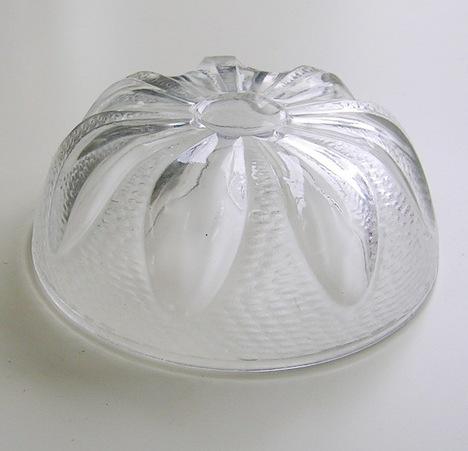 RG14010206.昭和レトロ 曽我ガラス 水蓮小鉢【ガラス食器】