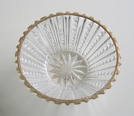 RG292.昭和レトロ 縁金ガラス小付【通販 ガラス食器】山口陶器店