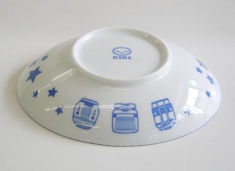 電車柄 陶器の子供食器