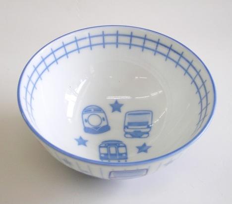 鉄道・電車柄 陶器のご飯茶碗