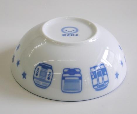 鉄道・電車柄 陶器の小鉢