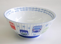 電車柄鉄道陶器子供用ラーメン丼