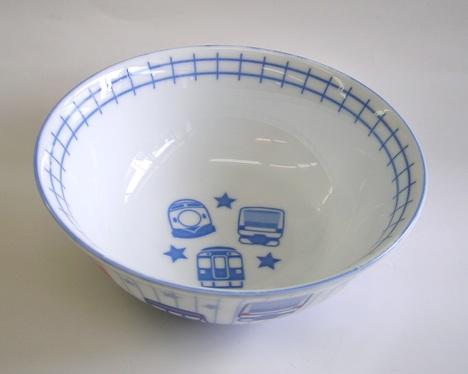 鉄道・電車柄 陶器のラーメン丼