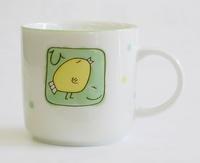 陶器 ひよこ柄マグカップ
