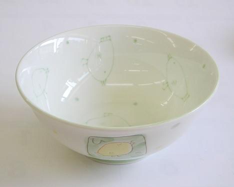 ひよこ柄 陶器のラーメン丼
