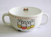 ミッフィー強化磁器ベビー食器のスープカップ