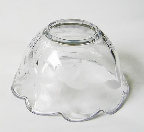 B1371X.SOGA.【アウトレット】曽我ガラス ガーデンテラス深小鉢6個セット【最大45%引きの激安! 在庫処分 食器 花柄】