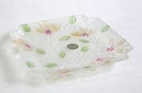 ガラス小鉢 花柄