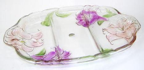 ガラス長角大皿
