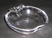昭和レトロ ガラスリンゴトロ型深小皿