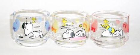スヌーピーガラスミニグラス3個セット
