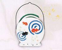 薬師窯 金魚柄の蚊取り器 特価で通販