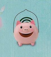 薬師窯 ピンクの豚の蚊遣り器