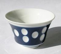 昭和レトロ 水玉反り煎茶湯呑み茶碗