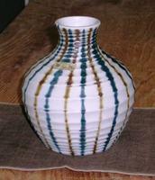 昭和レトロ崋山焼 花瓶
