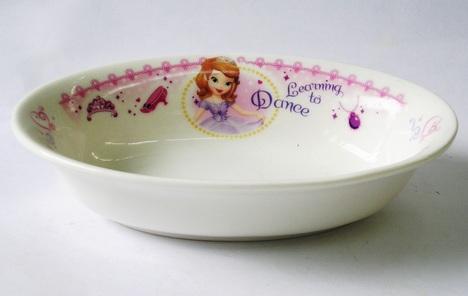 ちいさなプリンセス ソフィア 磁器製楕円形カレー皿