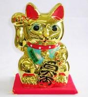 瀬戸 金色 招き猫 黄金小判猫右手 特価 通販