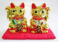 金色 右手・左手招き猫ペアセット 特価 通販