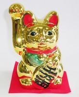 常滑焼 黄金小判猫右手 招き猫特価 通販
