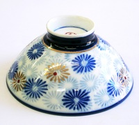 昭和レトロ オレンジライン 飯茶碗