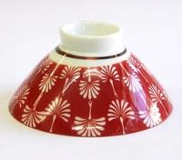 昭和レトロ 赤 飯茶碗