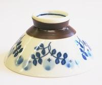 昭和レトロ 草花柄 飯茶碗