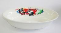 仮面ライダーブレイド陶器 楕円形カレー皿