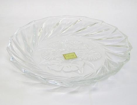 昭和レトロ 花染 ガラス皿