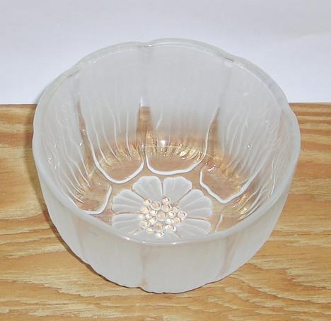 昭和レトロ アデリア ガラス深小鉢