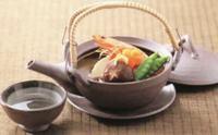秋の味覚 松茸の土瓶蒸しに直火に使用可能な万古焼の土瓶蒸しとコンロ 全品激安・特価で通販